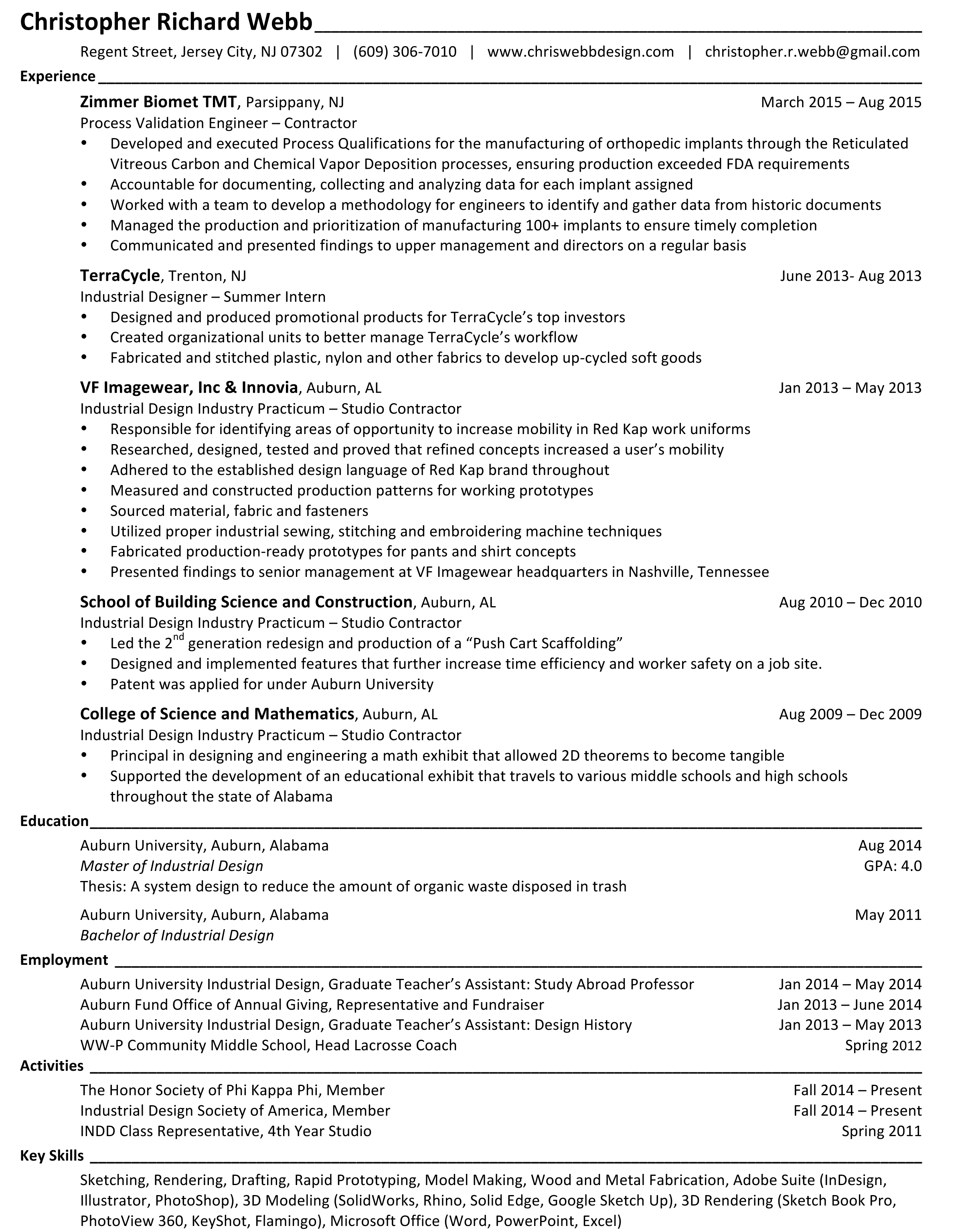Microsoft Word - Webb, Christopher_Resume.docx